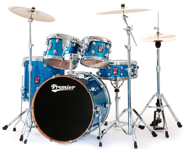 PREMIER GENISTA Maple 22 Batteria in Acero finitura Turquoise Sparkle