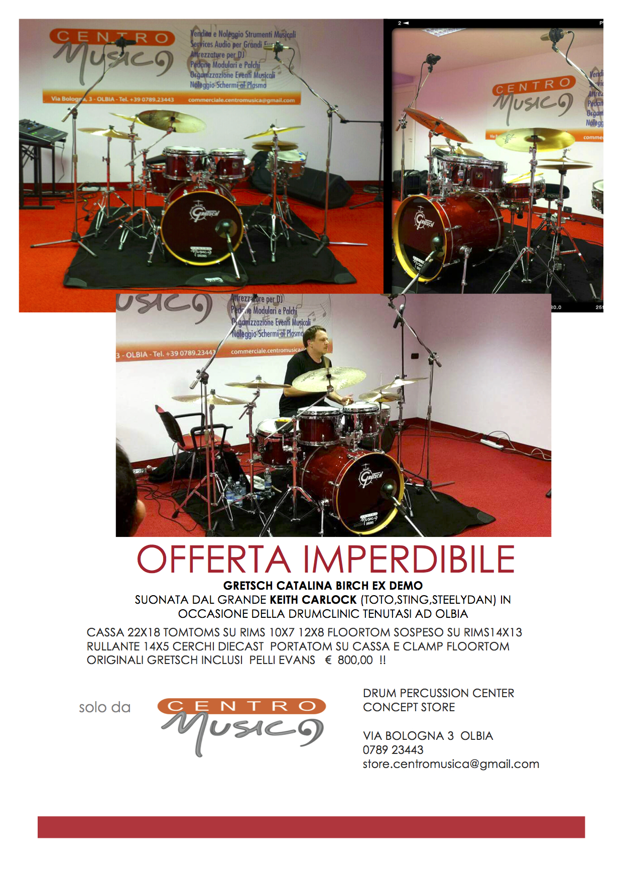 Batteria GRETSCH CATALINA BIrch